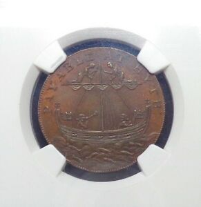 1794-Great-Britain-Kent-Hythe-Halfpenny-Token-DH-31b-NGC-MS-63-BN