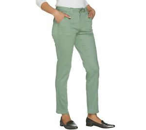 Isaac-Mizrahi-Women-039-s-TRUE-DENIM-Regular-Colored-Denim-Ankle-Jeans-Size-16-QVC