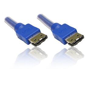 3 M 10' Ft Esata Externe (sata Iii) Data 6.0 Gbps Câble Lead Wire-afficher Le Titre D'origine
