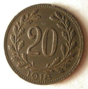 1918-Austria-20-Heller-Eccellente-Moneta-Affare-Bin-169