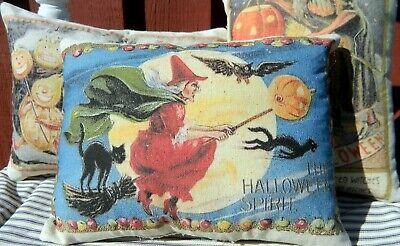 PRIMITIVE~ FOLK ART~ Halloween Pillow