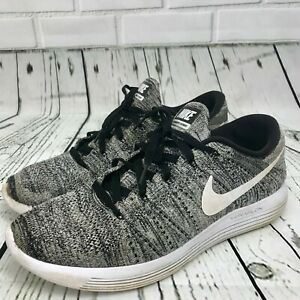 outlet store 16540 2c421 Details about Nike LunarEpic Flyknit Men's Size 11.5 Black White Oreo  Running Shoe 843764-001