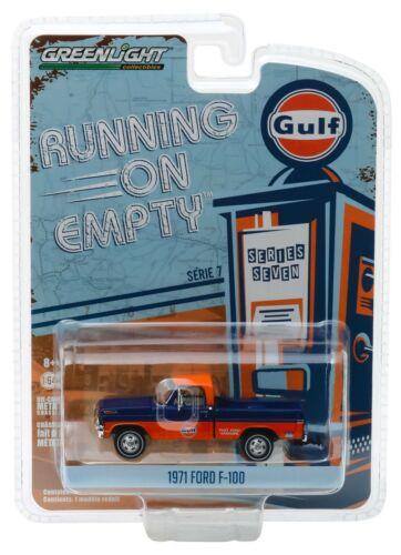1:64 GreenLight *RUNNING ON EMPTY R7* 1971 Ford F-100 Pickup GULF OIL *NIP*