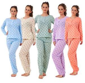 ac5594ad78e Ladies Pyjama Set Long Sleeve Floral Printed Women Nightwear Soft ...