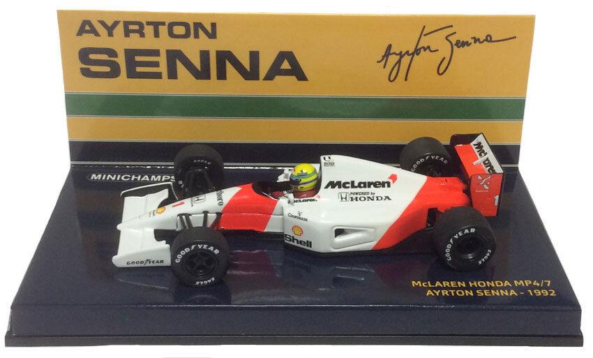Minichamps McLaren Honda MP4 7 Ayrton Senna 1 43 Scale