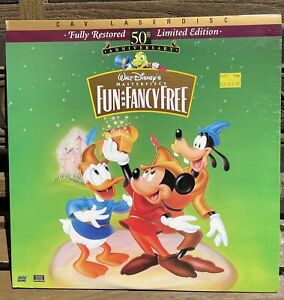 """Fun and Fancy Free"" CAV 50th Anniversary Laserdisc LD - Walt Disney Masterpiece"