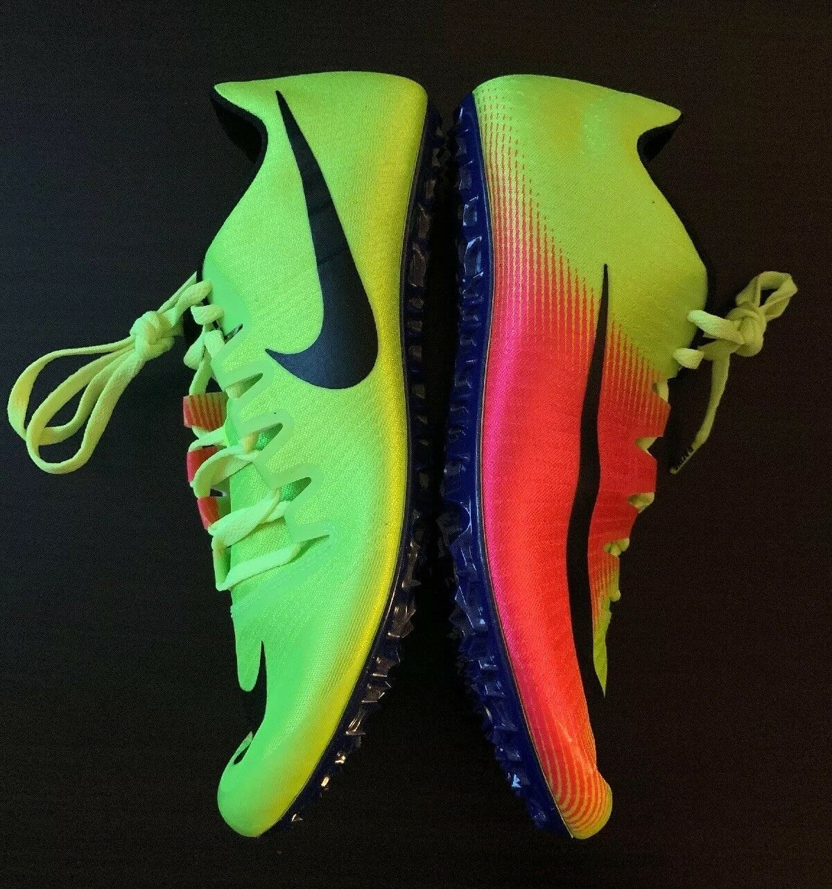 Nike Zoom JA Fly 3 Sprint Track Spikes 882032-999 Volt Pink Olympics Rio SZ 10.5