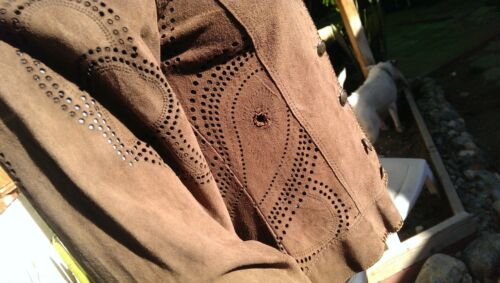 Lamb L7 Scully Chocolate m Suede Leather Jacket Women's A6qZwRPF