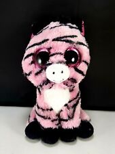 item 4 TY Beanies Boos ZOEY pink ZEBRA Plush Stuffed Toy pink glitter Eyes  6