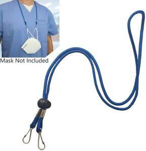Adjustable Buckle Mask Lanyard Hat windproof lanyard for Adult and Kids Mask holder hook 2 Count, Black/&White