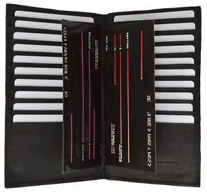 Black-Mens-Genuine-Leather-Slim-Multi-Credit-Card-Holder-Secretary-Bifold-Wallet