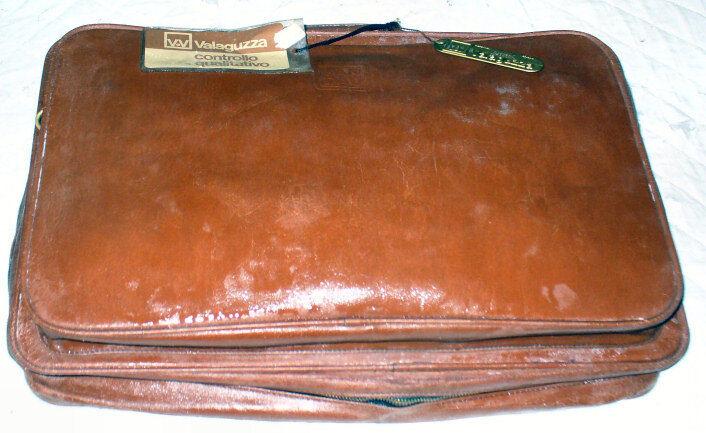 Valigia vintage anni 70 Valaguzza Milano pelle cuoio Marroneee suitcase viaggio