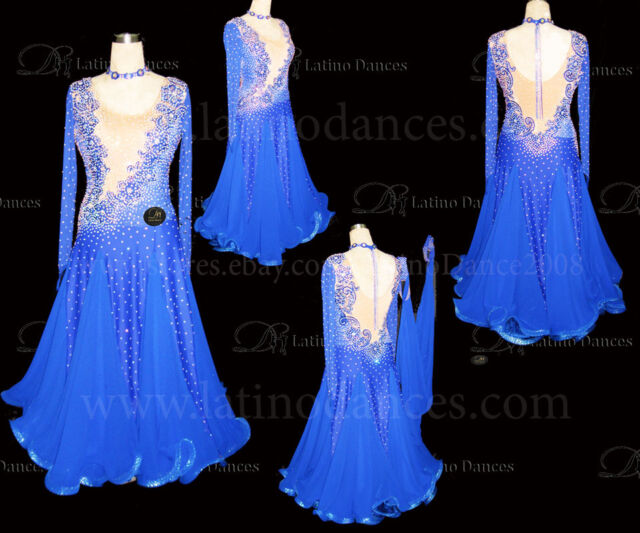 Tailored Ballroom Smooth Dance Dress With High Quality Rhinestone ST175