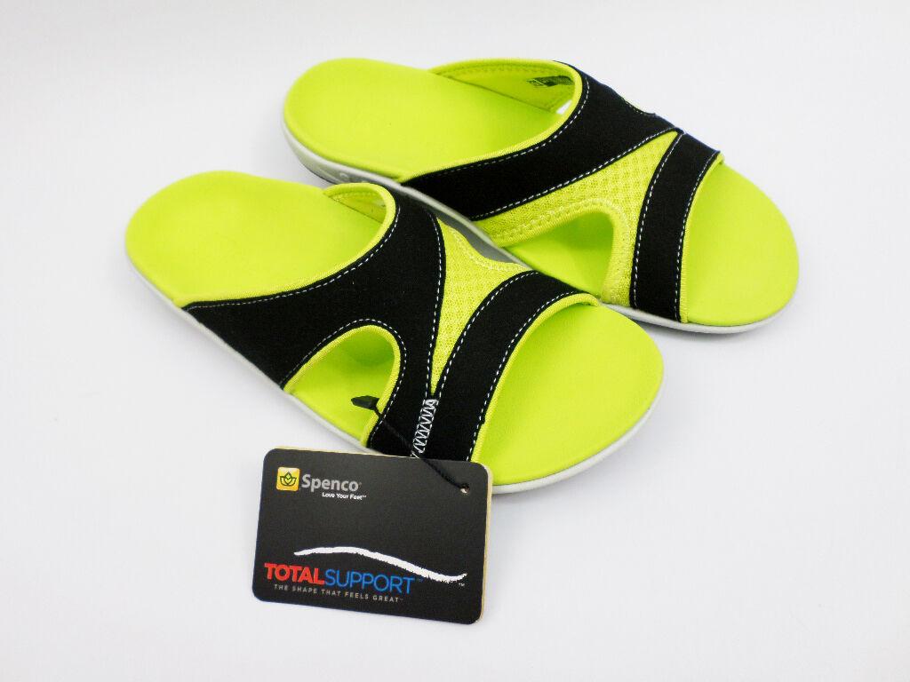 Spenco Wouomo Tori  Tennis Sandals Flip Flops nero   giallo US 6-10 39-572 A+