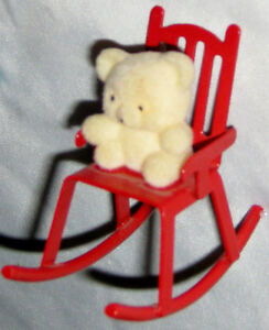 Remarkable Details About Red 2 1 2 Metal Rocking Chair Christmas Ornament Figurine W White Bear Machost Co Dining Chair Design Ideas Machostcouk