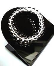Bracelet Femme Lithothérapie Minéraux  Cristal de Roche Bijoux en Pierre Naturel