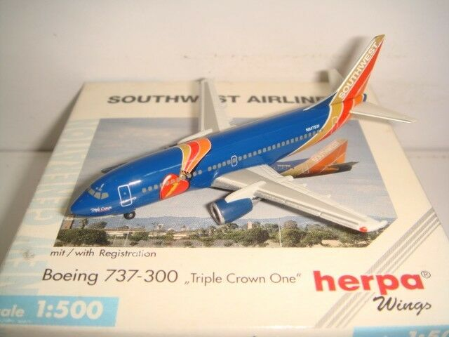 Herpa Wings 500 Southwest Airlines B737-300  Triple Crown One  1:500 NG
