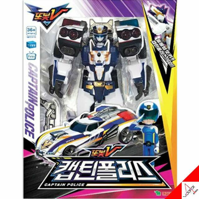 TOBOT V  CAPTAIN POLICE /& Animal Tokey Policeman Car Transformer Robot Cop Toy