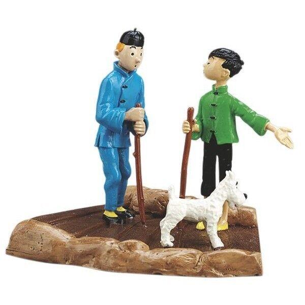 Tintin en Tchang - Tintin Kuifje original from Pixi Paris with Box and Certifica