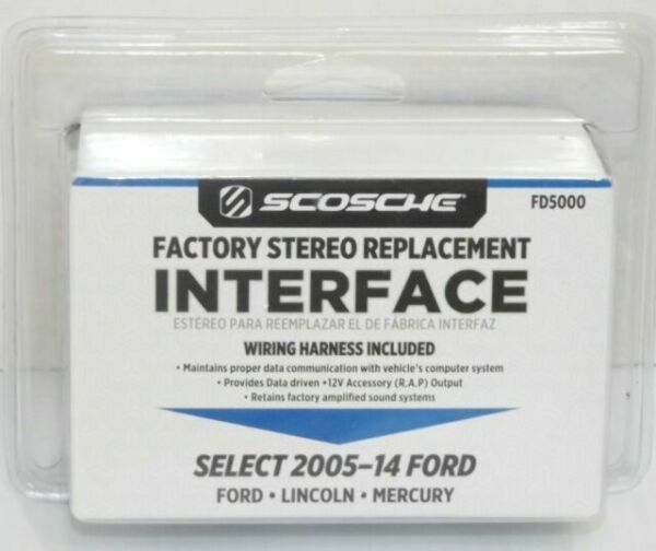 scosche fd5000 factory replacement interface ford lincoln mercury 200514  for sale online  ebay