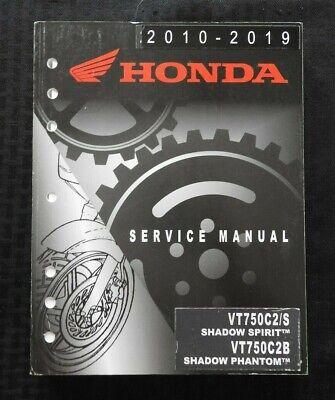 2010-2019 Honda 750 Vt750 C2 S C2b Schatten Spirit Fantom Motorrad Reparatur Senility VerzöGern