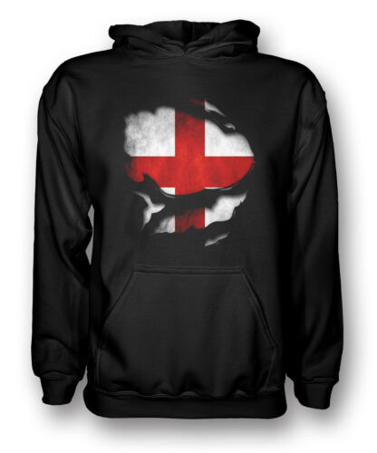 England Ripped Effect Under Mens Hoodie
