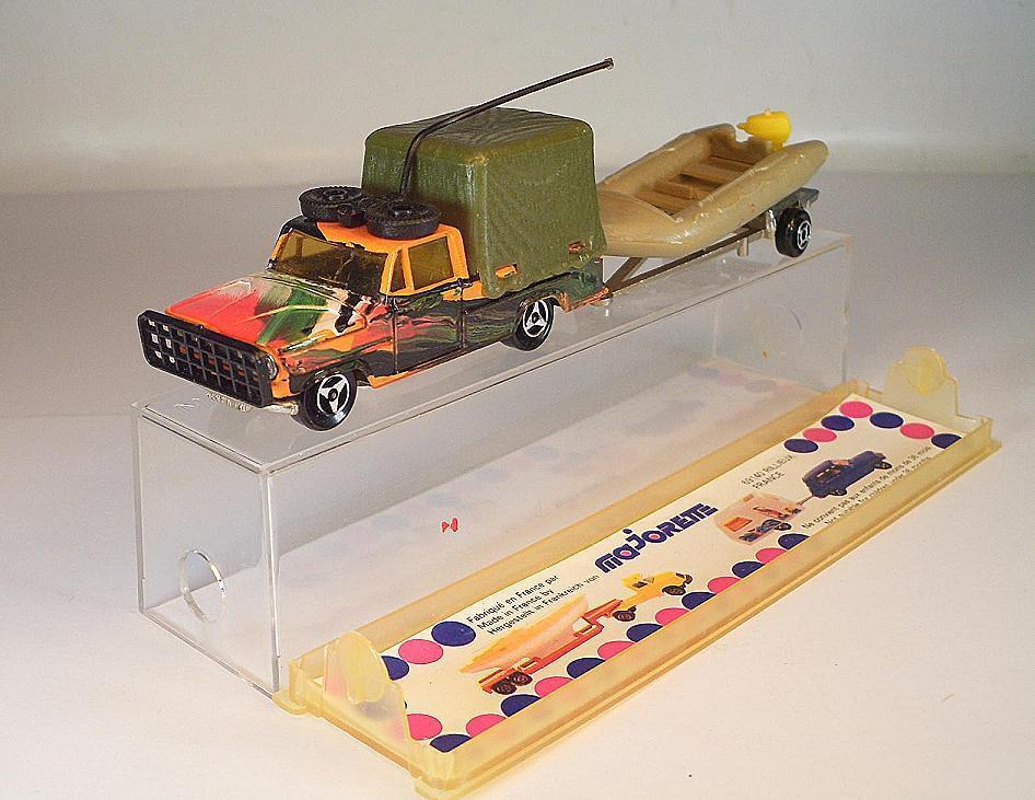 Majorette 1 80 Nr. 343 Dodge Safari & SchlauchStiefel Dinghy OVP  313