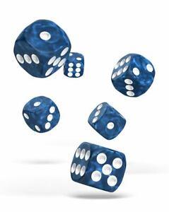 Oakie-Doakie-Dados-16mm-W6-Cubo-Marble-Azul-12-D6-Tablero-de-Mesa-Cubo-Marmol