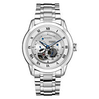 Bulova Men's 96A118 Automatic Exhibition Caseback Bracelet Watch