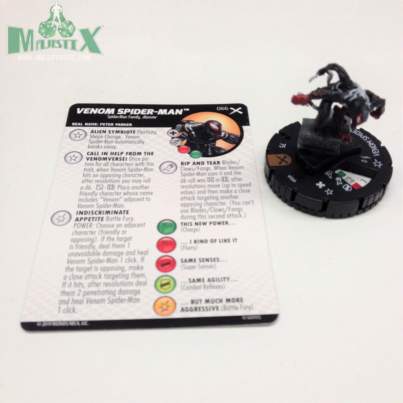 Heroklix Ekonsth X sätter Venom Spider -Man Chase figur W  bild