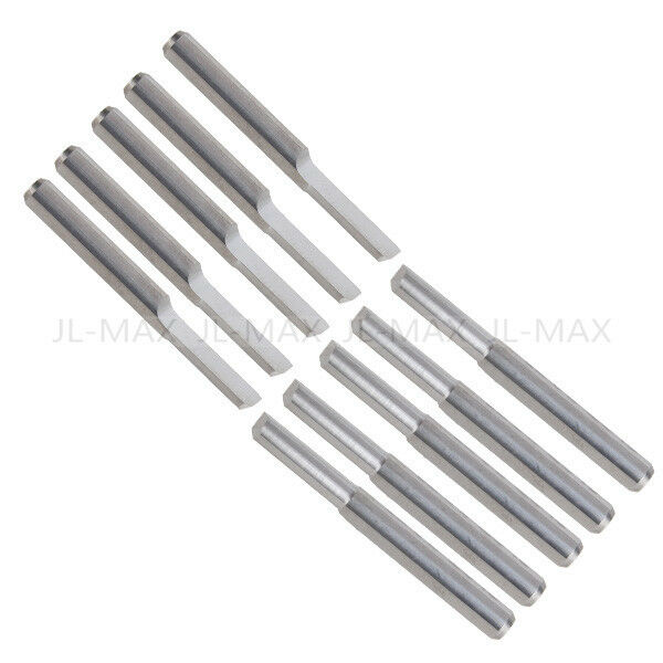 Tool Bits 10Pcs Tungsten Steel 3mm Parallel Carbide CNC PCB