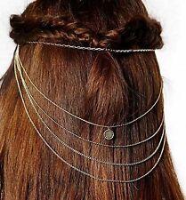 Accessoire mariage , bijou de cheveux , headband 5 chaines dorées, 2 peignes