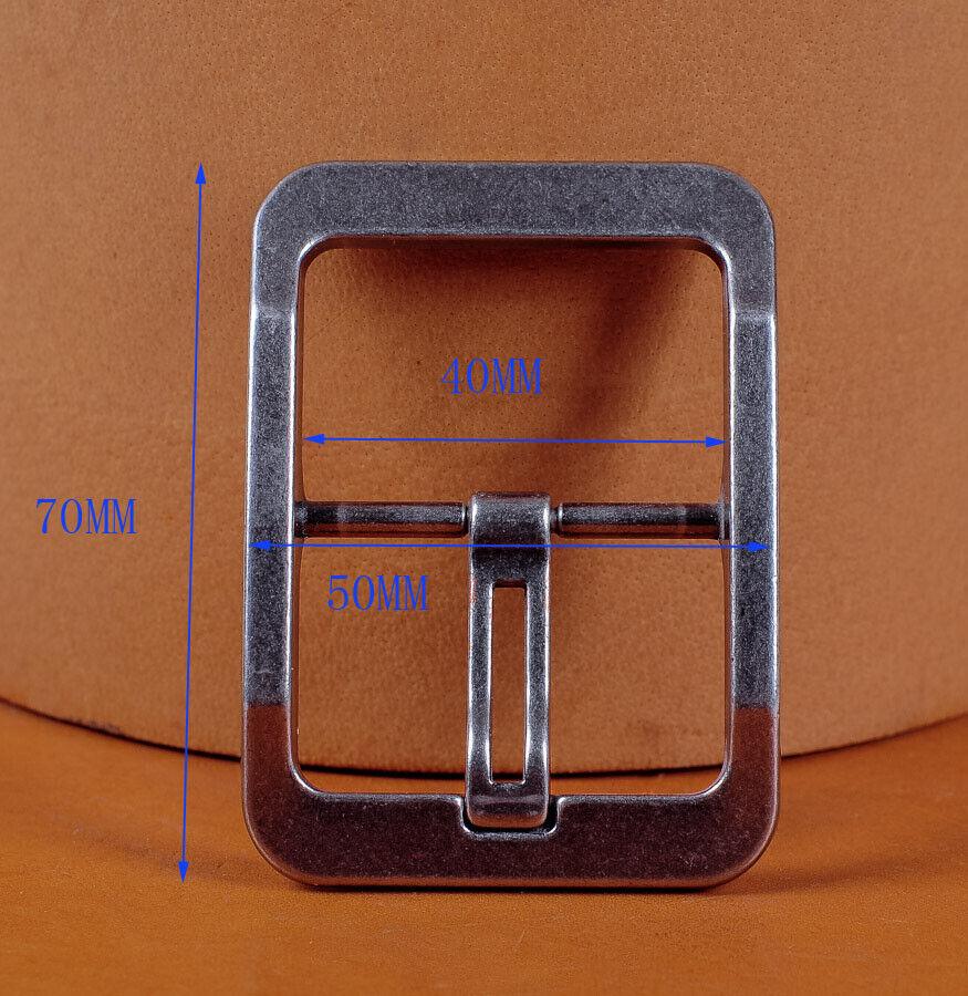 DIY Heavy Duty Solid Center Bar Prong Rectangular Belt Buckle For 1-1/2