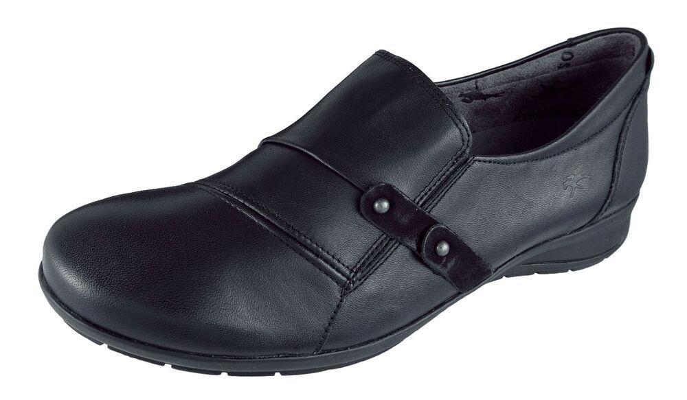 Capable Zapatos Mujer / Womens Shoes Mocasines Fluchos Negro/black Piel Noa Ref.f9154 Convient Aux Hommes Et Aux Femmes De Tous âGes En Toutes Saisons
