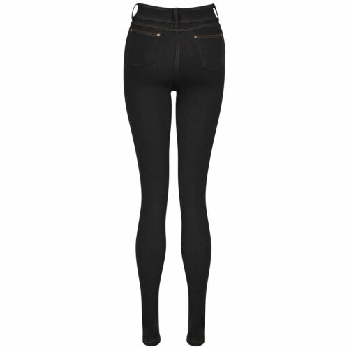 New Ladies Womens Skinny Fit Coloured Stretchy Jeggings Trousers Jeans Size 8-16