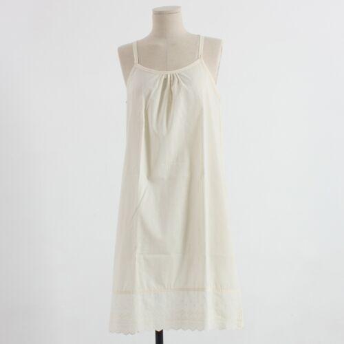 Womens Cotton Ivory Lace Slip Underwear Sleepwear Dress Underskirt Petticoat