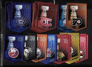 2011-12 PANINI COORS STANLEY CUP BANNER SEE LIST