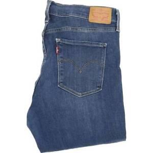 Levi-039-s-312-Shapping-Frauen-blau-Skinny-Slim-Stretch-Jeans-w31-l32-46575