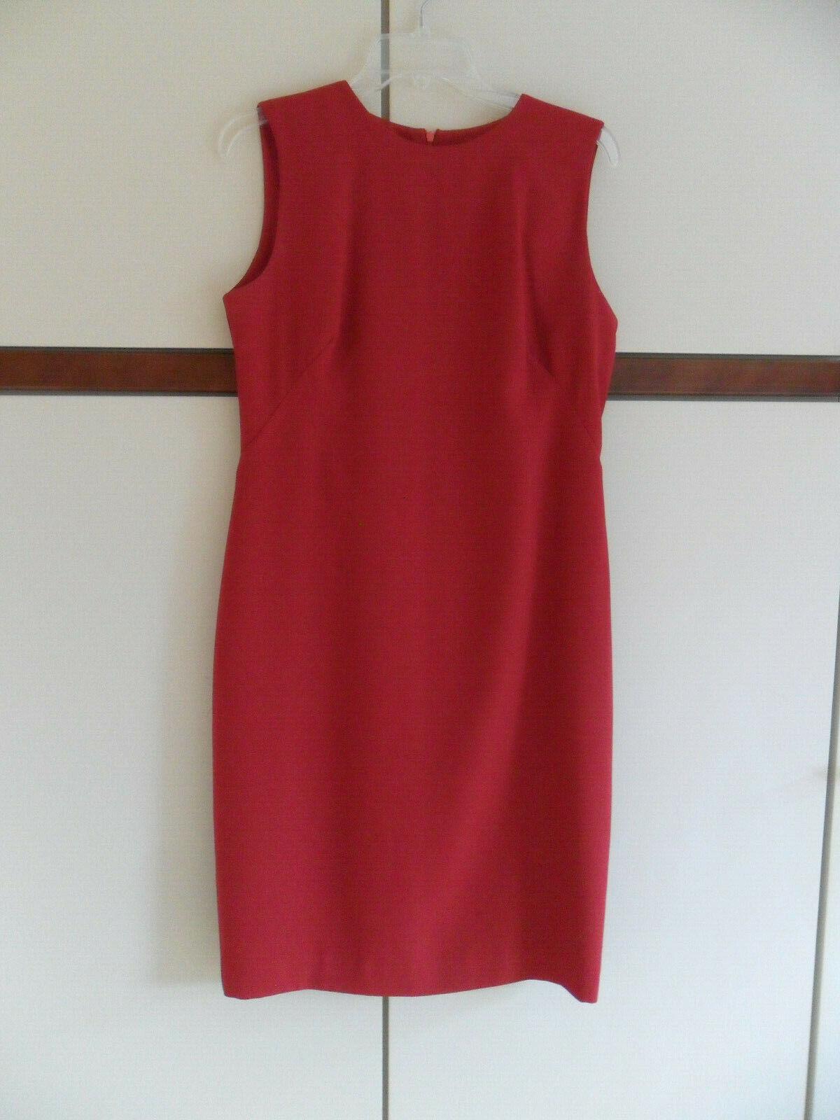 Etuikleid mit Gehrock Damenkleid mit Mantel rot Gr. 38