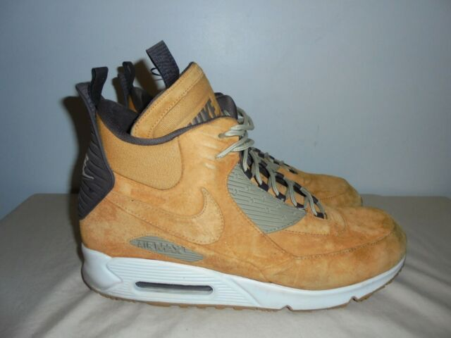 Nike Air Max 90 Sneakerboot Winter Waterproof Wheat 684714 700 Mens Size 14