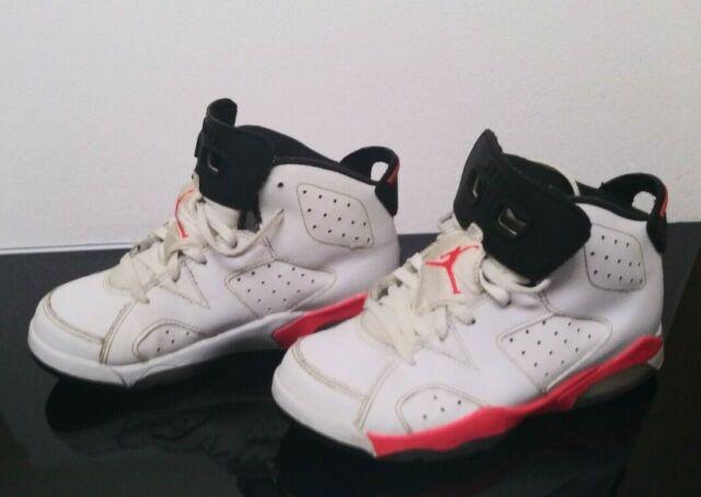 brand new 5ff73 9bf0f Nike Air Jordan Retro 6 VI Infrared White Black Size 1.5y Youth 384666-123