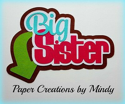 Craftecafe Mindy family big sister premade paper piecing scrapbook die cut Title