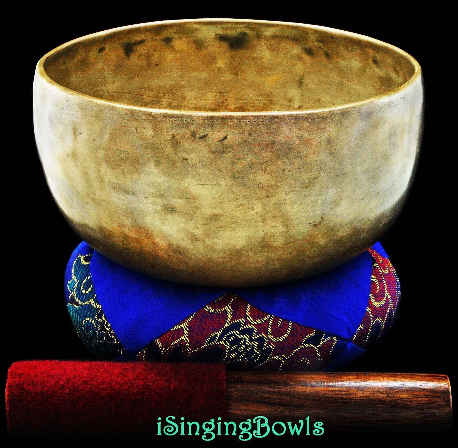 Antique Tibetan Singing Bowl  Thado 7 3 8 , circa 18th Century, G 3 & D5. VIDEO