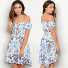 New Floral High Low Latina Off Bare Cold Shoulder Dress Size 6 8 10 12 XS S M L