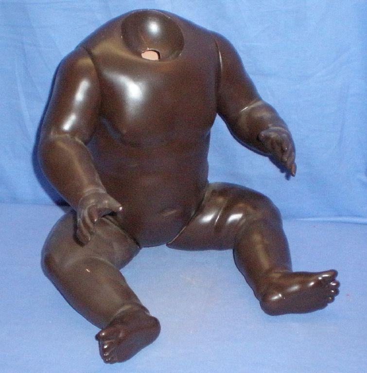 Baby Body Tartaruga-Mark celluloide  BEBI 1925 , 55cm 22 , Dark Coloreeato Baby