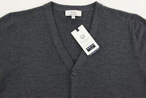 Men/'s TURNBURY Navy Merino Wool Cardigan Sweater 2XT Tall NEW NWT