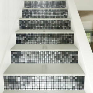 6-PCS-Mosaic-Stairs-Tile-Stickers-Wall-Decals-Home-Decoration-PVC-DIY-Removeable