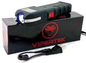 Genuine Vipertek VTS-989 Heavy Duty Rechargeable Stun Gun with LED Light