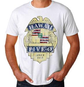 Retro hawaii five 0 80 39 s cop police shield tv show vintage for Hawaii 5 0 t shirt