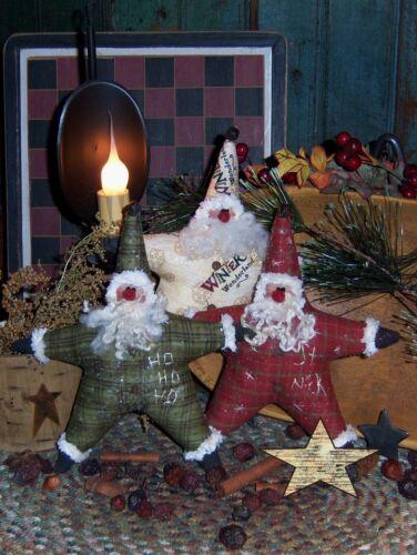 Primitive Santa Star Ornies Bowl Fillers Paper Pattern #213
